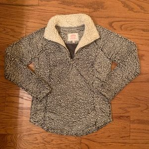 Cozy Sherpa Quarter Zip - Grey - Women's Small